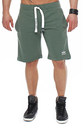 c9d8618c7bbb77 Finchman 90O3 Herren Cotton Sweat Short Kurze Hose Bermuda Grün XXL ...